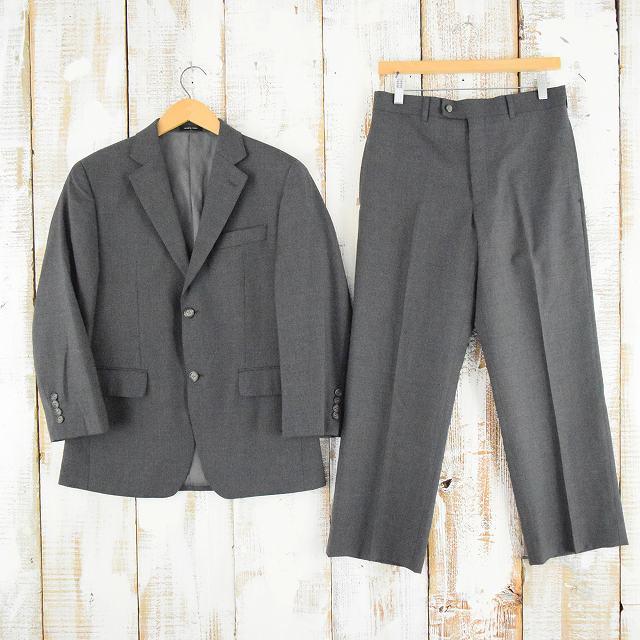 ウールテーラードジャケット&スラックスSETUP スーツ セットアップ パンツ 【古着】 【ヴィンテージ】 【中古】 【メンズ】