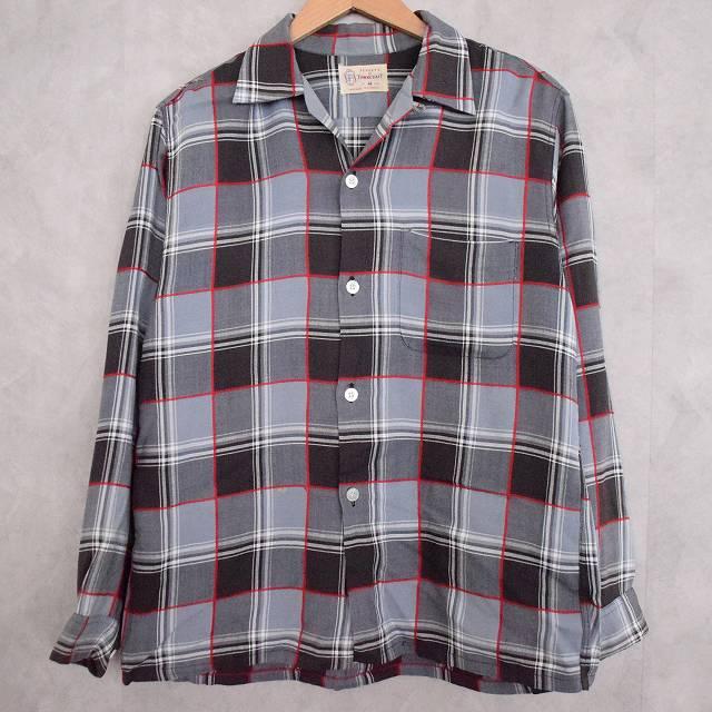 50's~60's PENNEY'S TOWNCRAFT チェック柄 Shirt 50年代 60年代 ペニーズ タウンクラフト ストアブランド シャツ 【古着】 【ヴィンテージ】 【中古】 【メンズ店】