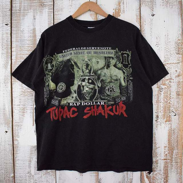 2PAC ヒップホップTシャツ XL ツーパック hiphop ラッパー ラップ  【古着】 【ヴィンテージ】 【中古】 【メンズ店】