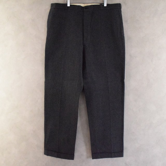 50's PEPPERELL WHIPCORD SOLT & PEPPER Trousers W43 DEADSTOCK 50年代 ウィップコード ソルト&ペッパー柄 ワークパンツ 黒 ブラック  【古着】 【ヴィンテージ】 【中古】 【メンズ】