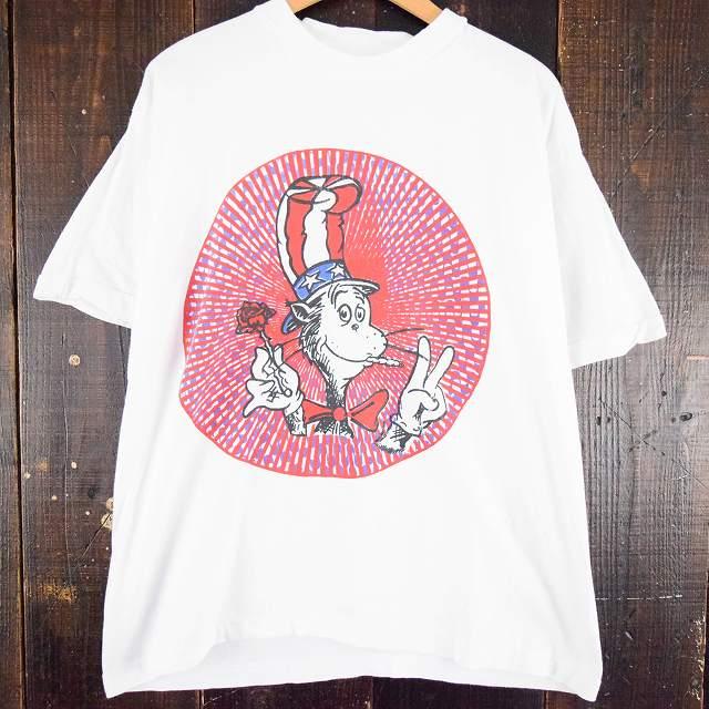 90's CAT IN THE HAT × GRATEFUL DEAD パロディTシャツ 90年代 グレイトフルデッド バンt キャットインザハット 【古着】 【ヴィンテージ】 【中古】 【メンズ店】