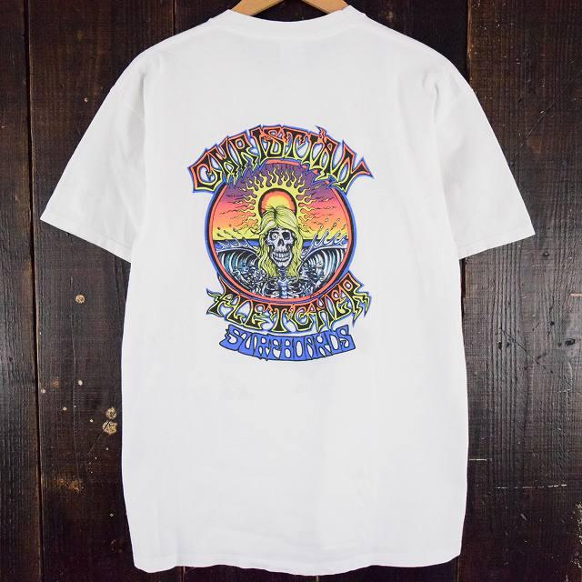 90's CHRISTIAN FLETCHER SURFBOARDS USA製 サーフTシャツ 90年代 スカル 【古着】 【ヴィンテージ】 【中古】 【メンズ店】