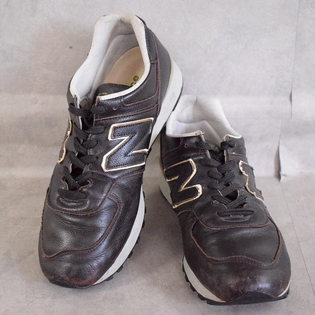New Balance 576 ENGLAND製 Sneakers 27.5cm ニューバランス スニーカー 靴 シューズ レザー ブラウン ダークブラウン 【古着】 【ヴィンテージ】 【中古】 【メンズ店】