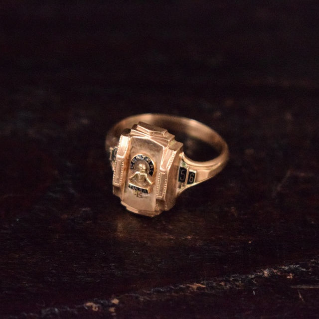 1956 VINTAGE カレッジリング 50年代 ハイスクール 学校 指輪 アクセサリー 【古着】 【ヴィンテージ】 【中古】 【メンズ店】