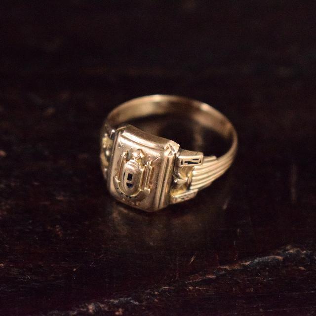 1937 VINTAGE カレッジリング 30年代 ハイスクール 学校 指輪 アクセサリー 【古着】 【ヴィンテージ】 【中古】 【メンズ店】