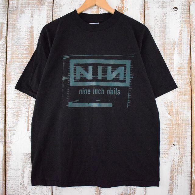 90's nine inch nails USA製 インダストリアルロックバンドTシャツ L ナイン・インチ・ネイルズ バンド バンT ミュージック 音楽 ロック 【古着】 【ヴィンテージ】 【中古】 【メンズ店】