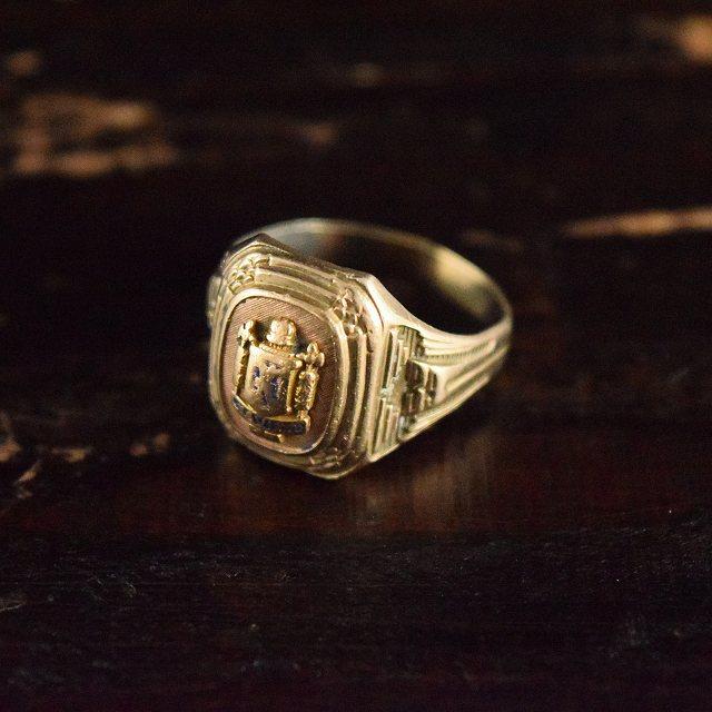 VINTAGE カレッジリング 学校 指輪 アクセサリー 【古着】 【ヴィンテージ】 【中古】 【メンズ】