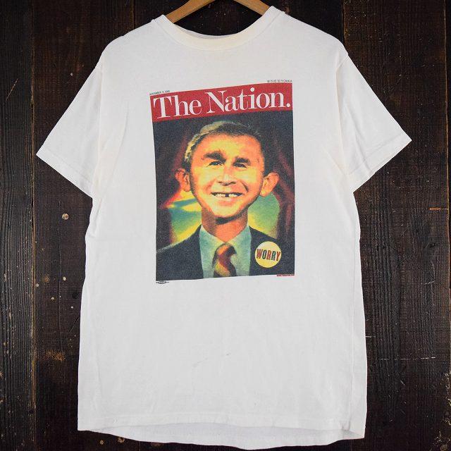 2000's アルフレッド・E・ニューマン USA製 ブッシュ大統領パロディTシャツ2000年代 MAD アルフレッド・E・ニューマン 【古着】 【ヴィンテージ】 【中古】 【メンズ】