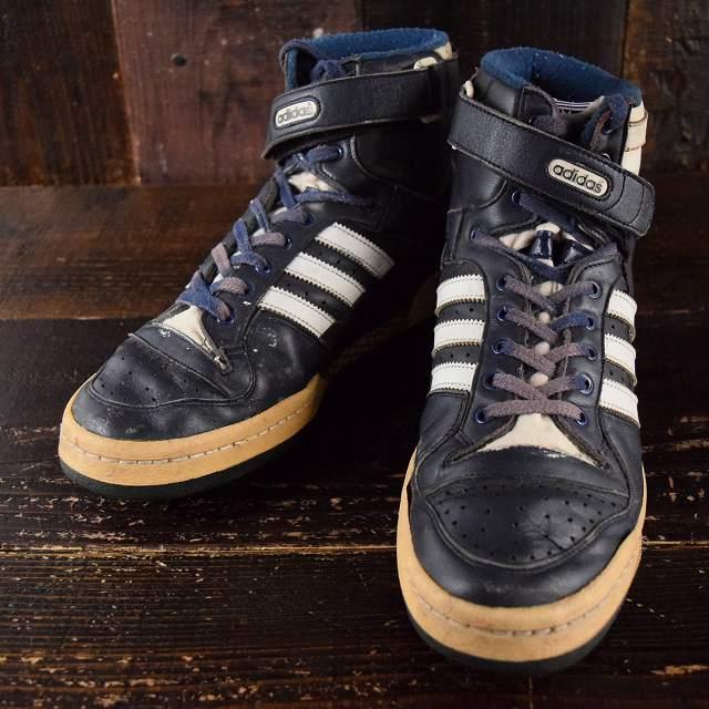80's~ adidas フォーラム FRANCE製 NAVY 80年代 アディダス フランス製 スニーカー 靴 ハイカット バスケ マイケルジョーダン 【古着】 【ヴィンテージ】 【中古】 【メンズ】