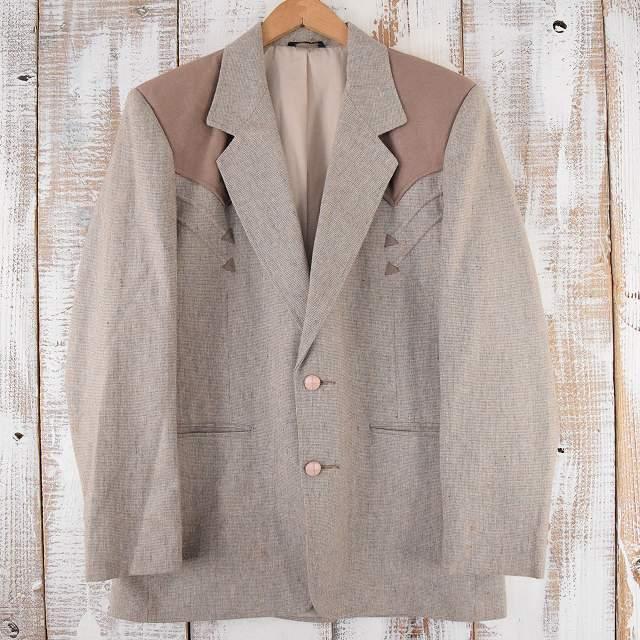 USA製 ウエスタンテーラードジャケット フォーマル スーツ ツイード 【古着】 【ヴィンテージ】 【中古】 【メンズ】