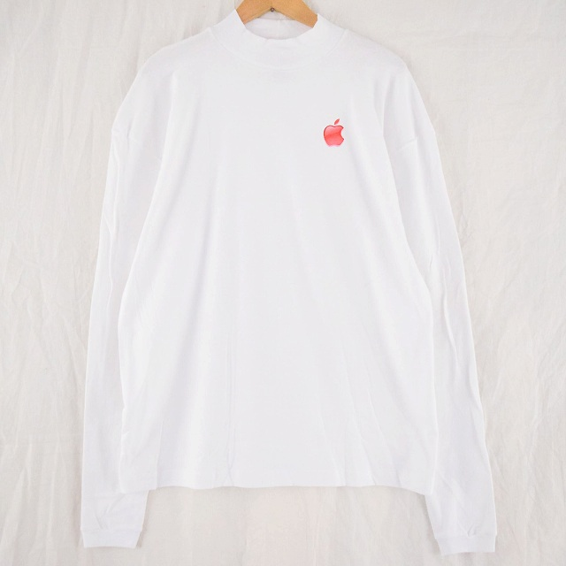 USA買付 ストアー 2000's Apple USA製 モックネック ロゴロンT XL 2000年代 ヴィンテージ 中古 アップル 登場大人気アイテム マック メンズ店 企業 古着