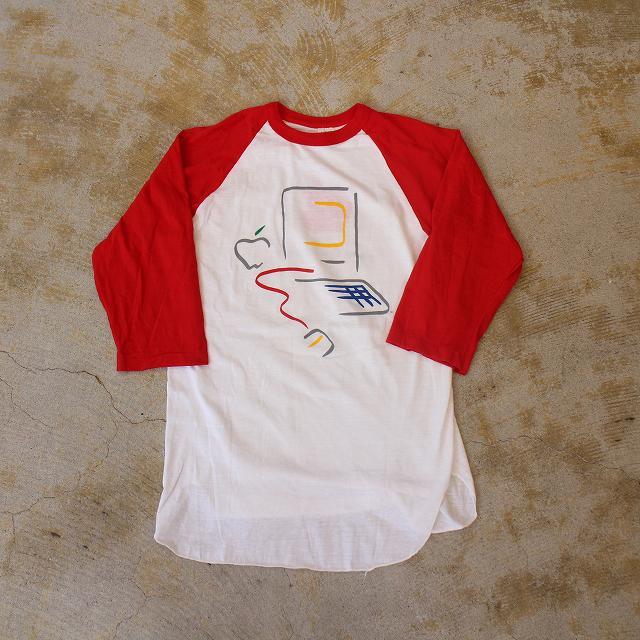 80's Apple USA製 ピカソデザイン ラグランTシャツ L 80年代 アメリカ製 ヘルスニット アップル 企業 Technology 【古着】 【ヴィンテージ】 【中古】 【メンズ店】
