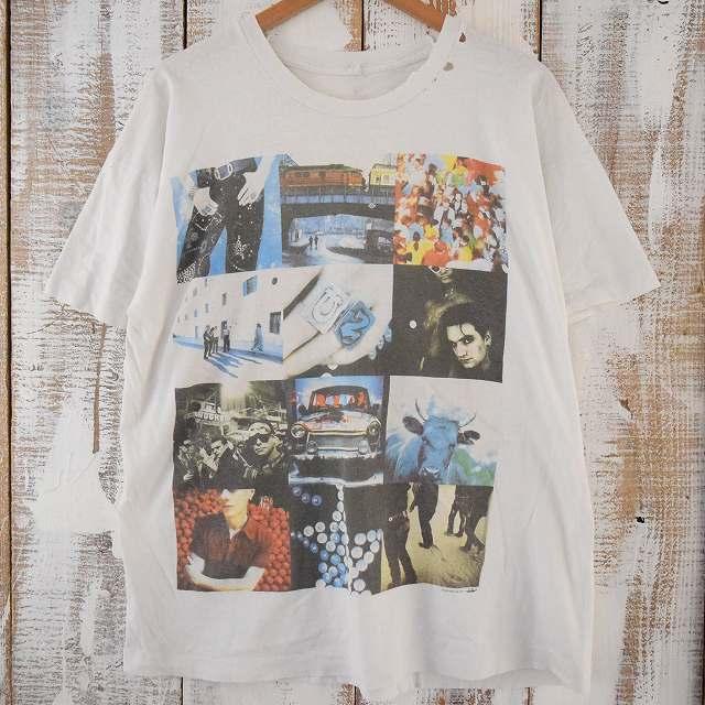 90's U2 ロックバンドTシャツ 90年代 ユーツー ミュージック バンT 音楽 【古着】 【ヴィンテージ】 【中古】 【メンズ】