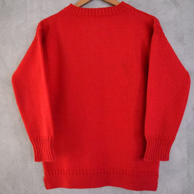 VINTAGE Guernsey Sweater Red ガンジー セーター ニット  【古着】 【ヴィンテージ】 【中古】 【メンズ】