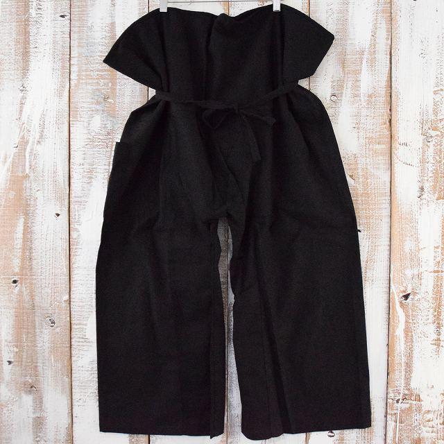 リメイク 袴パンツ BLACK 黒 タイパンツ ブラック はかま 【古着】 【ヴィンテージ】 【中古】 【メンズ】