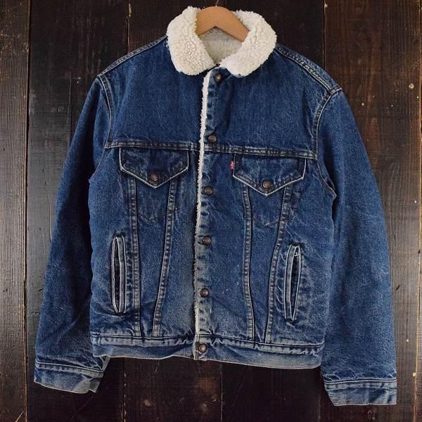 80's Levi's 70508 USA製 デニムボアジャケット 80年代 リーバイス アメリカ製 【古着】 【ヴィンテージ】 【中古】 【メンズ】