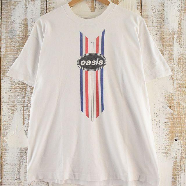 90's oasis バンドTシャツ 90年代 オアシス ロック 音楽 バンT ミュージック 【古着】 【ヴィンテージ】 【中古】 【メンズ】