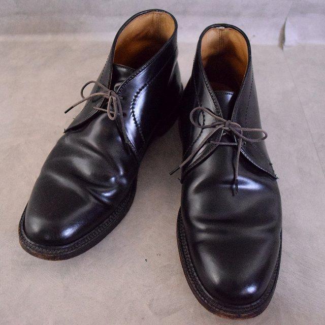 Alden コードバン Chukka Boots 8 1/2 オールデン チャッカブーツ レザー 革靴 黒 ブラック 【古着】 【ヴィンテージ】 【中古】 【メンズ店】