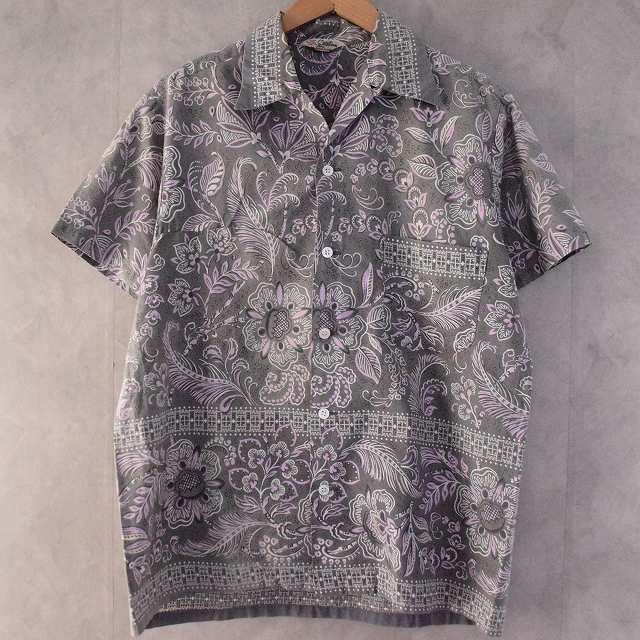 50's Catalina CALIFORNIA Hawaiian Shirt M 50年代 カタリナ コットン アロハシャツ 総柄 ハワイアン 【古着】 【ヴィンテージ】 【中古】 【メンズ店】