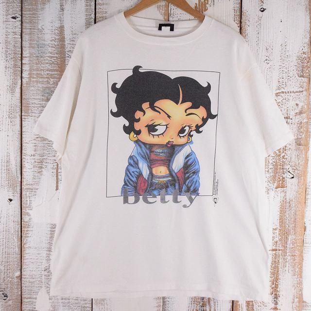 90's BETTY BOOP USA製 キャラクターパロディTシャツ XL 90年代 ベティちゃん アメリカ製 【古着】 【ヴィンテージ】 【中古】 【メンズ店】