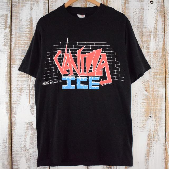 90's VANILLA ICE USA製 ラッパー ツアーTシャツ L 90年代 ヴァニラアイス バニラアイス ヒップホップ ラップ MC ミュージック アメリカ製 【古着】 【ヴィンテージ】 【中古】 【メンズ店】