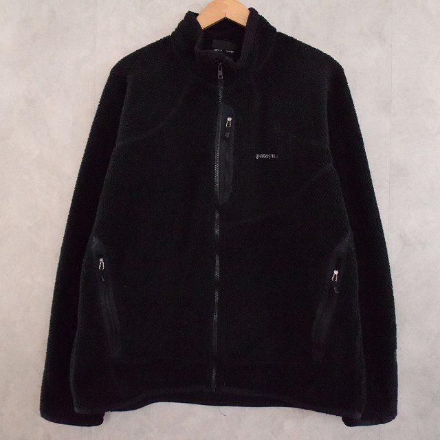 2000's Patagonia Rシリーズ R2 POLARTEC Fleece Jacket BLACK 2000年代 パタゴニア 黒 ブラック アウトドア フリースジャケット 【古着】 【ヴィンテージ】 【中古】 【メンズ店】