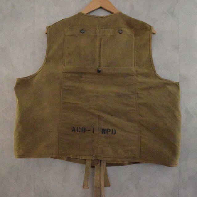 40's U.S.NAVY ACB-1 Working Vest 40年代 アメリカ軍 米軍 ミリタリー 海軍 ワーキングベスト 【古着】 【ヴィンテージ】 【中古】 【メンズ店】