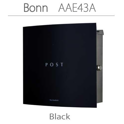 郵便ポスト:ドイツ製マックスノブロック・壁掛型ポスト・ボン-ブラック[P-303]【fsp2124-6f】【あす楽対応不可】