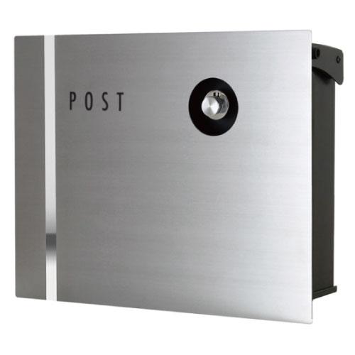 最新発見 nice 郵便ポスト・パーサス ネオ・ステンレス(Type09/壁掛けタイプ)[P-822]【】【全品送料無料】:feel so-エクステリア・ガーデンファニチャー