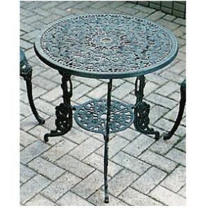 ★送料無料★ ガーデンテーブル:アルミ鋳物テーブル(大)[F-279]【fsp2124-6f】【あす楽対応不可】【全品送料無料】