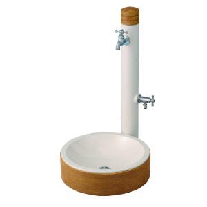 立水栓・水栓柱:水栓柱-アルブラン・パイン(パン/蛇口/補助蛇口付)[W-192]【fsp2124-6f】【あす楽対応不可】【全品送料無料】
