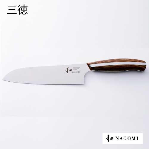 包丁 三星刃物 和 NAGOMI 「丸 MARU」 三徳包丁 刃渡り180mm[K-014]【あす楽対応不可】【送料無料】