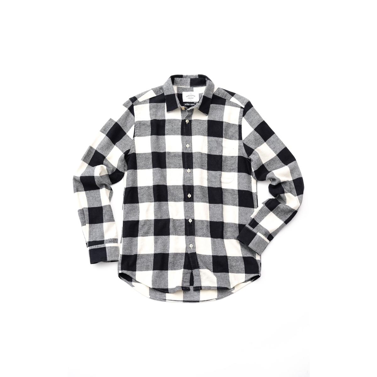 PORTUGUESE Flannel フランネルシャツ ブラック チェック (Black) 700056640 ポルトガル フランネル ネルシャツ シャツ ポルトガルコットン メンズ 送料無料