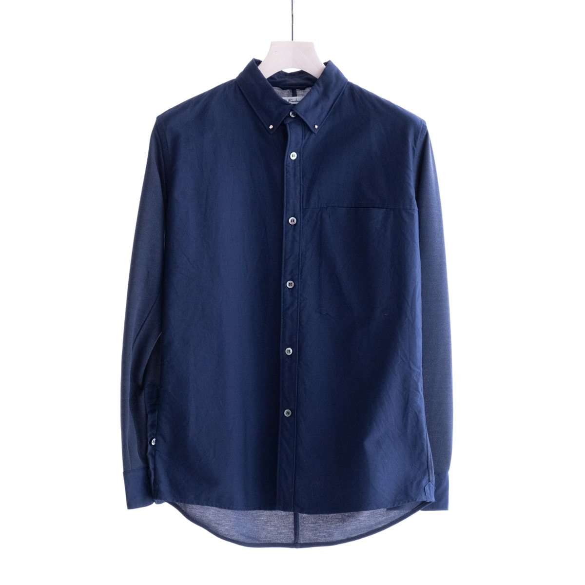 【SALE 40%OFF】 Dr.Franken Dr.Shirts BD OX (Navy) DF-S101 ドクターフランケン ドクターシャツ ボタンダウン オックスフォード オックス 異素材コンビ 日本製 メンズ 送料無料