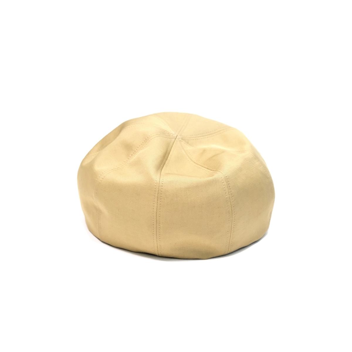 UNITUS Mini Belet (Beige) UTSSS18-A02 ユナイタス ベレー帽 リネン コットン 綿麻 帽子 日本製 送料無料