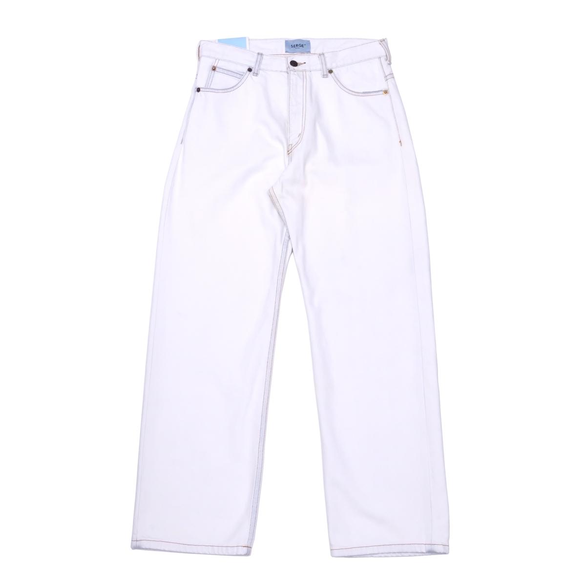 SERGE LIMIT BLEACH BAGGY (WHITE) 07043332 サージ リミットブリーチ バギー ブリーチ フラワーオイル トリートメント 日本製 デニム ジーンズ パンツ メンズ 送料無料