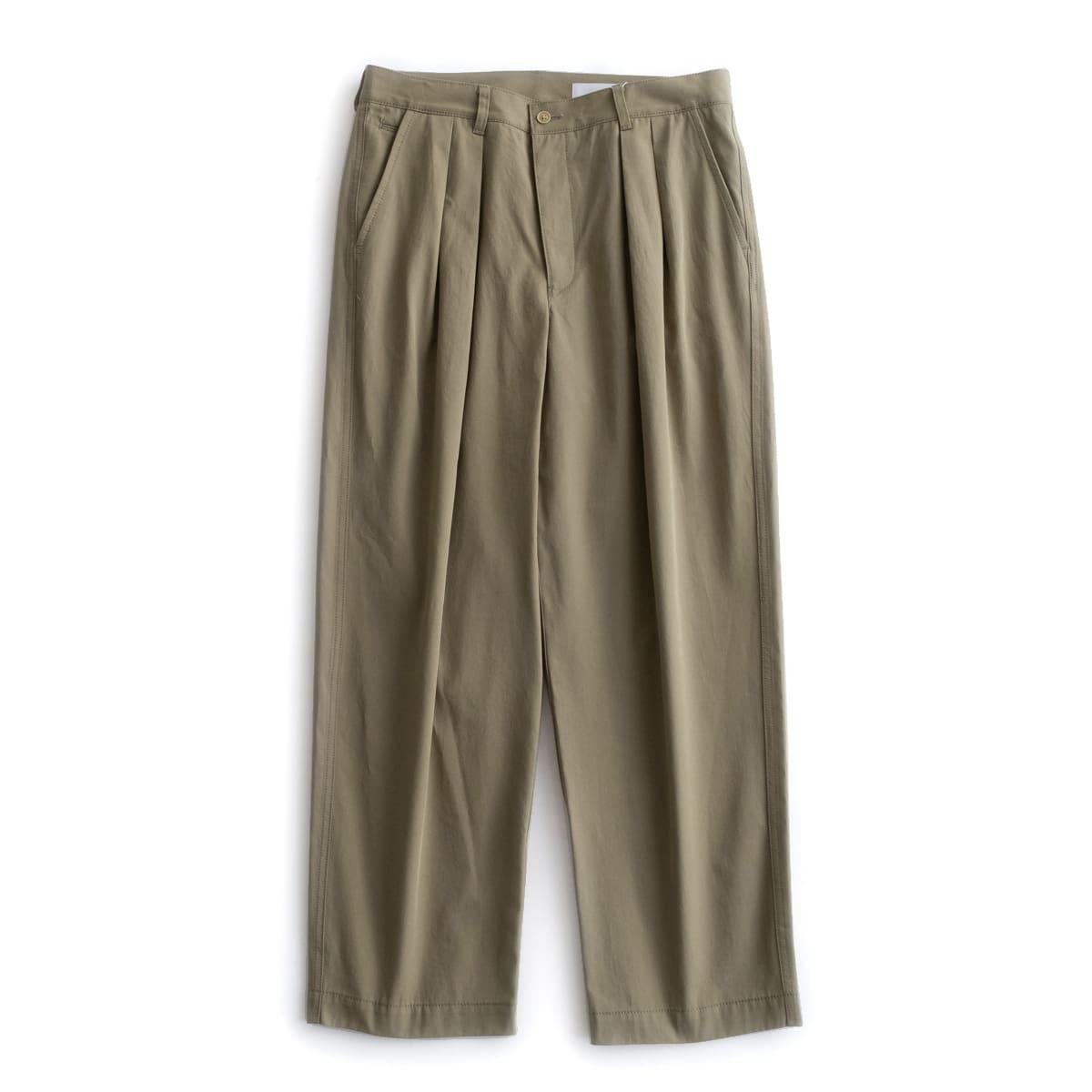 nuterm Two Tuck Wide Trousers (2色 Sage Green/Black) nut002PT-020S ニューターム ツータック ワイド トラウザー ワイドパンツ パンツ 日本製 メンズ 送料無料