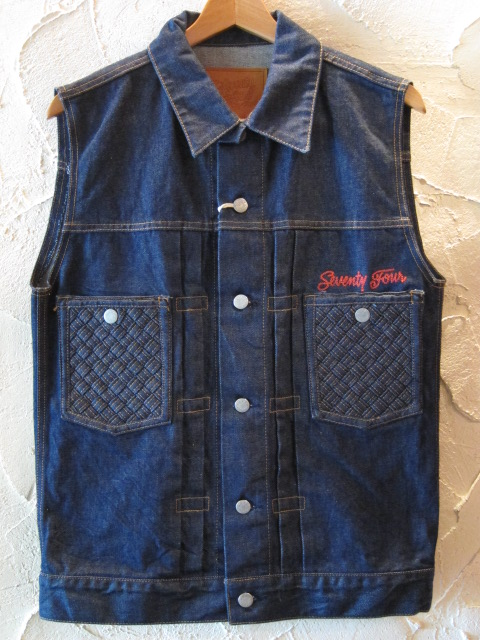 ★送料無料★【SALE 40%OFF】SEVENTY FOUR/TYPE II DENIM VEST INDIGO