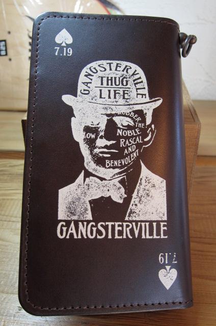★送料無料★GANGSTERVILLE ギャングスタービル/GSV WALLET BROWN