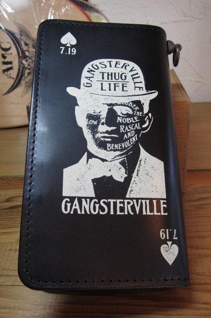 ★送料無料★GANGSTERVILLE ギャングスタービル/GSV WALLET BLACK