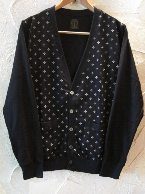 ★送料無料★A GOODTIME PRODUCTION/SUICIDAL CROSS JERSEY CARDIGAN BLACK