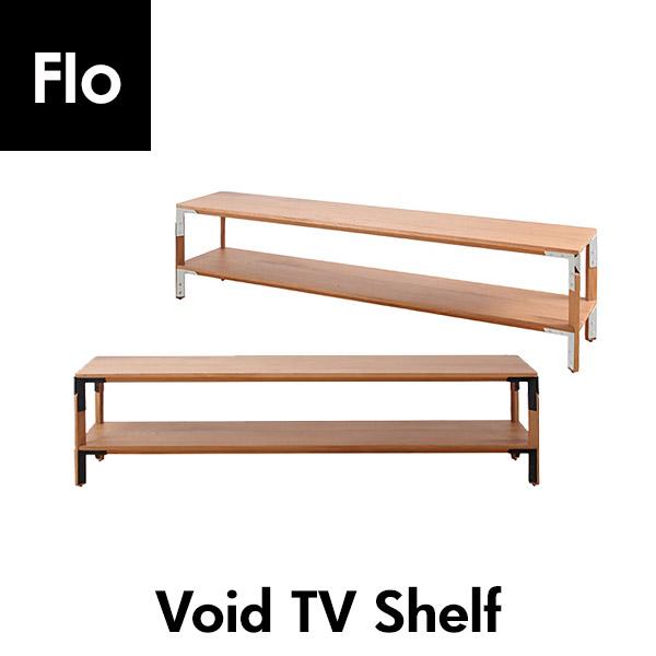 おしゃれなTV台 TVラック Void TV Shelfタイのインテリアメーカー FLO棚 木製 ホワイト ブラック スチール アンティーク風 北欧風 キッチン収納 幅120×35cm 高さ45cm