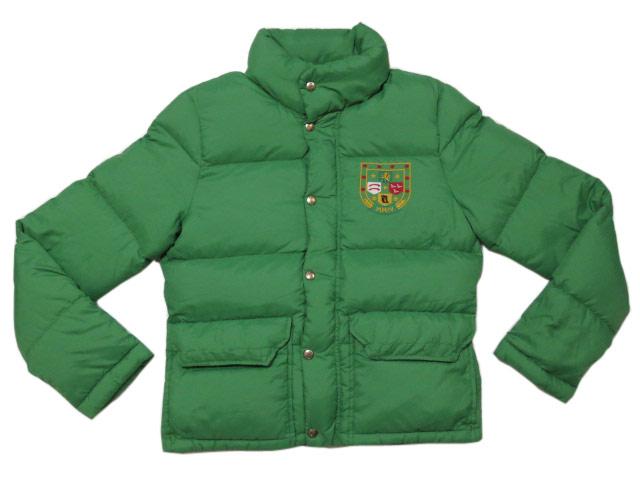 【新品】 Ralph Lauren Rugby/ラルフローレンラグビ- 刺繍入り ダウンジャケット 黄緑系 【サイズ:Lady's M】【あす楽対応】【古着屋mellow市場店】