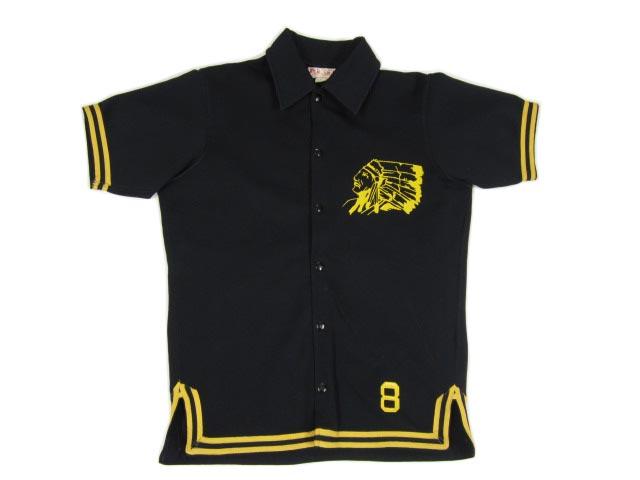 【中古】 FaBKnit SANTA ROSA WARRIORS フットボールシャツ 黒×黄 【サイズ:L】【あす楽対応】【古着屋mellow市場店】