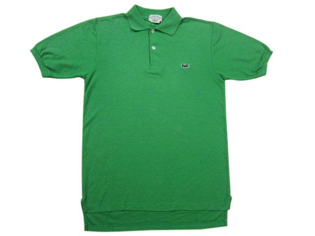 【中古】 IZOD LACOSTE/ラコステ 半袖 無地 鹿の子 ポロシャツ 緑 Made in JAPAN 【サイズ:Boy's 20】【あす楽対応】【古着屋mellow楽天市場店】