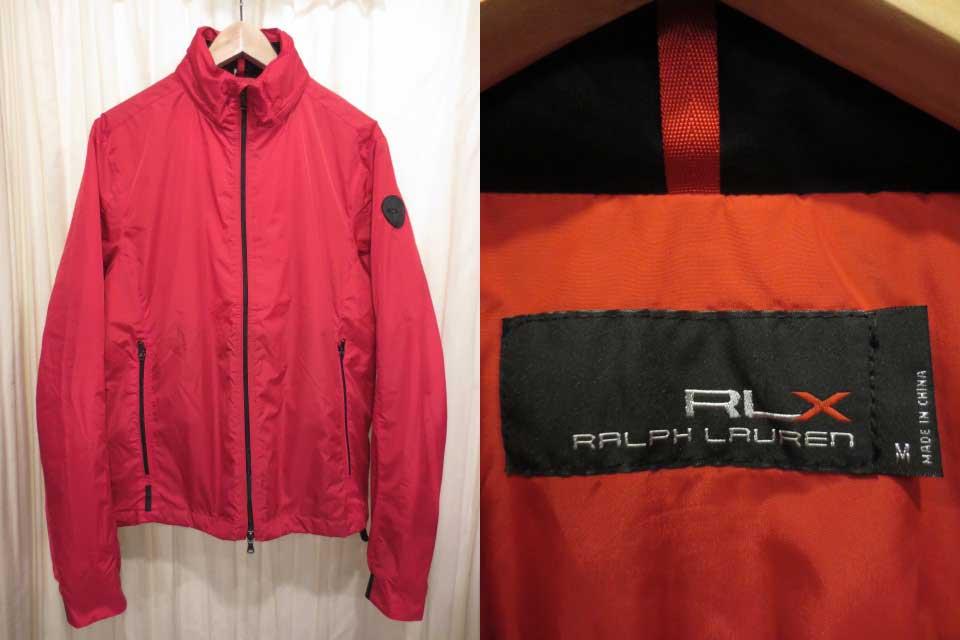 【新品・サンプル品】Ralph Lauren RLX ラルフローレン フード内蔵型 中綿ウインドブレーカー 赤 表記(M)【古着屋mellow市場店】【ゴルフ】