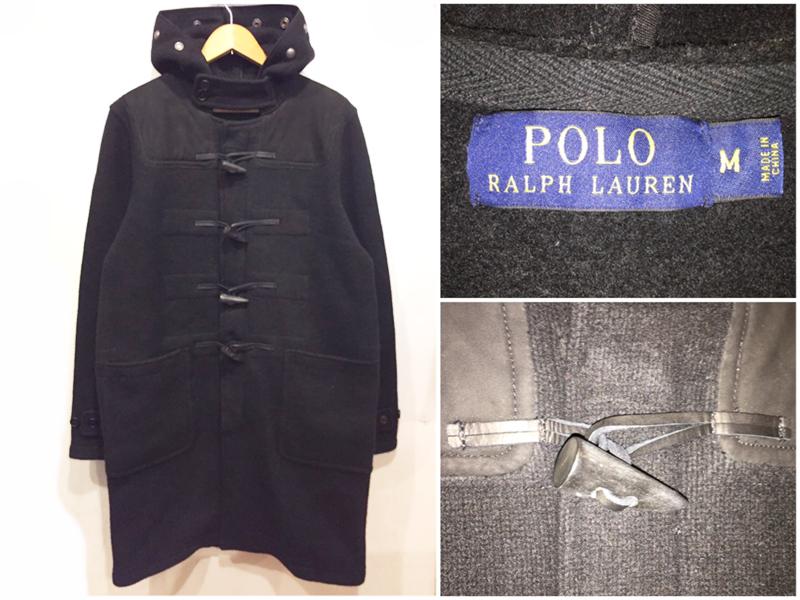 【サンプル品】Polo by Ralph Lauren/ラルフローレン ニット ダッフルコート ブラック 表記(M)【新品】【古着屋mellow市場店】