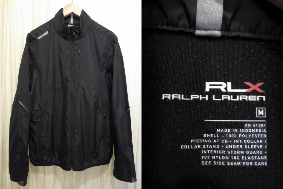 【サンプル品】Ralph Lauren RLX ラルフローレン ウインドブレーカー 黒 表記(M)【中古】【古着屋mellow市場店】【ゴルフ】
