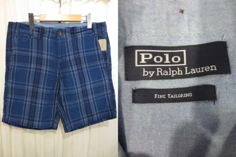 【新品・サンプル品】POLO Ralph Lauren ラルフローレン マドラスチェック コットンショーツ 表記(32)【古着屋mellow市場店】