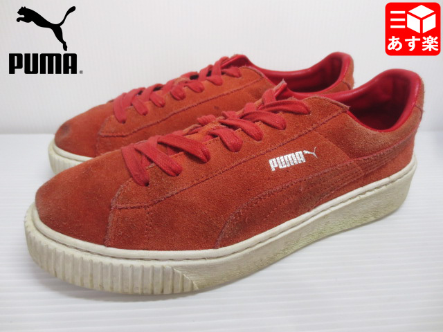 Puma suede platform PUMA Suede Platform sneakers size: Women's US 10 red system old clothes used mellow